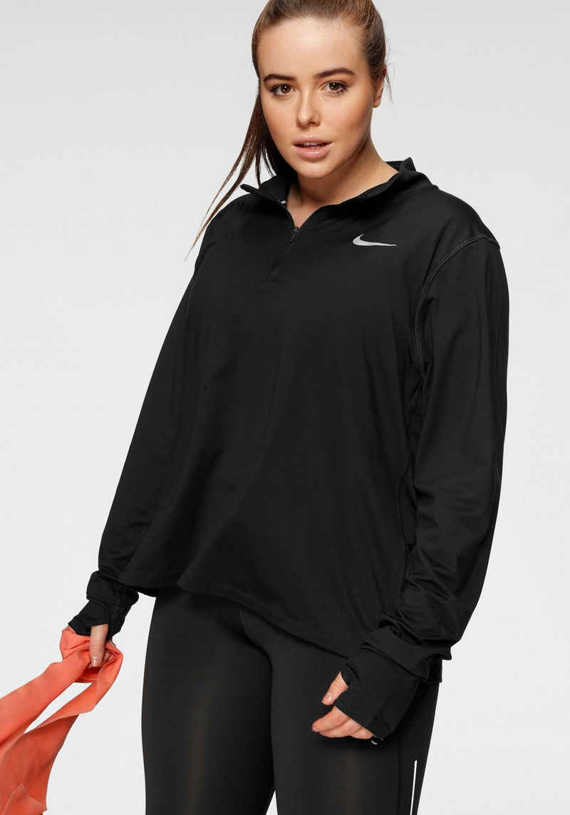 Nike Laufshirt »Women's 1/2-zip Running Top PLUS SIZE«