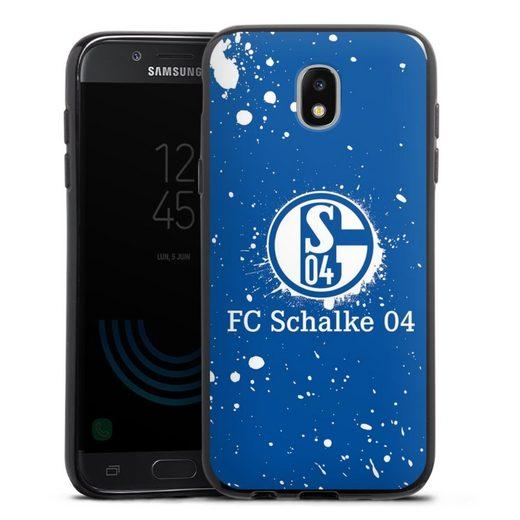 DeinDesign Handyhülle »Schalke 04 - Spraylogo« Samsung Galaxy J5 Duos (2017), Hülle FC Schalke 04 S04 Offizielles Lizenzprodukt