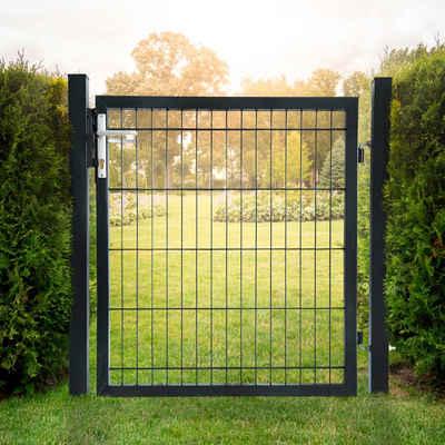 HOME DELUXE Gartentor, BxH: 100x120 cm, für Doppelstabmatten