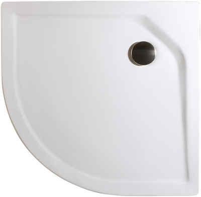 Schulte Rundduschwanne »Extraflach«, rund, Sanitäracryl, BxT: 80 x 80 cm