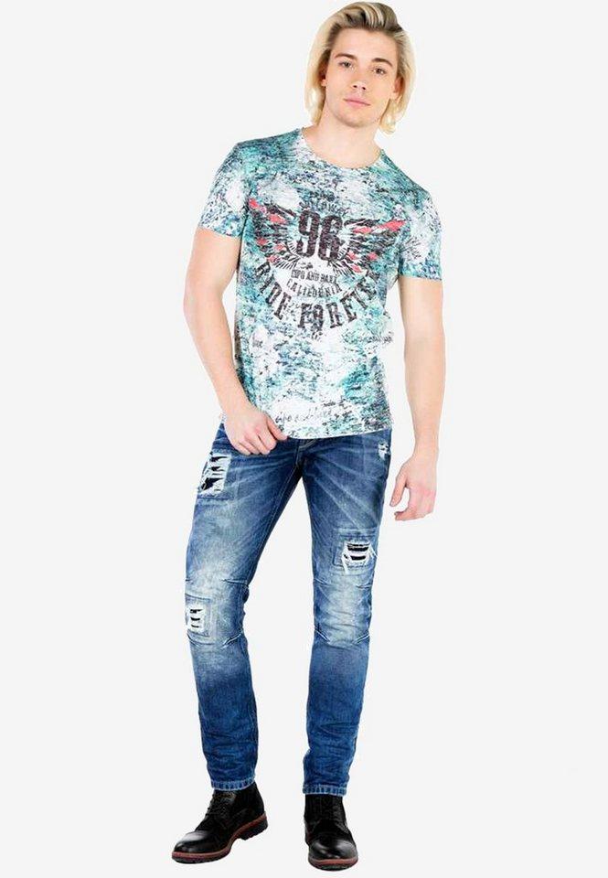 cipo & baxx -  Bequeme Jeans mit coolen Ripped-Details