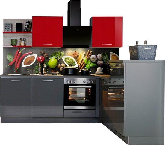Express Küchen Winkelküche »Jena«, ohne E-Geräte, vormontiert, mit Soft-Close-Funktion, Stellbreite 245 x 175 cm