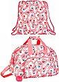 safta Sporttasche »Lama - XL Sporttasche und Sportbeutel, rosa« (Reißverschluss, Mädchen), Geringes-Gewicht, Bild 1
