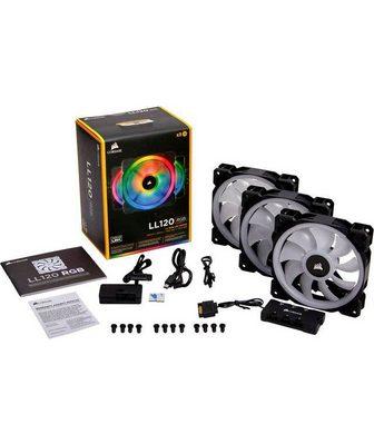 Corsair Gehäuselüfter »LL120 RGB LED Fan Tripl...