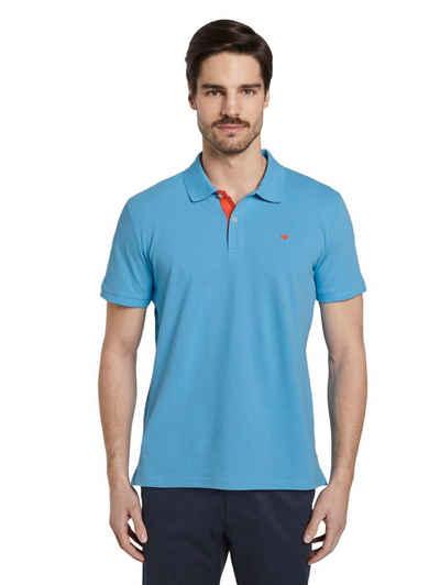 TOM TAILOR Poloshirt »Basic Poloshirt« mit Kontrast an Knopfleiste