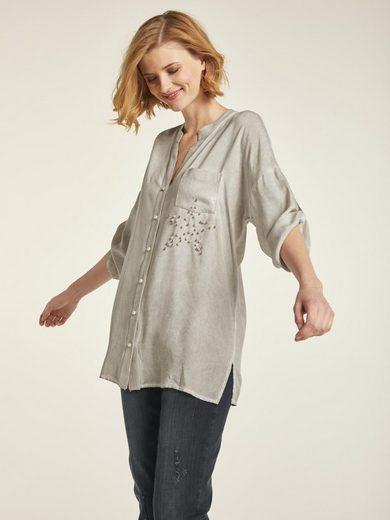 heine CASUAL Bluse mit dekorativer Sternapplikation
