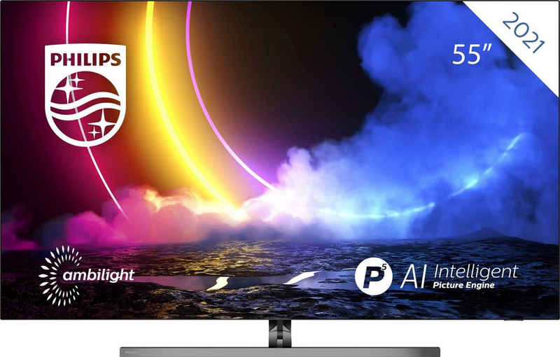 Philips 55OLED856/12 OLED-Fernseher (139 cm/55 Zoll, 4K Ultra HD, Android TV, Smart-TV)