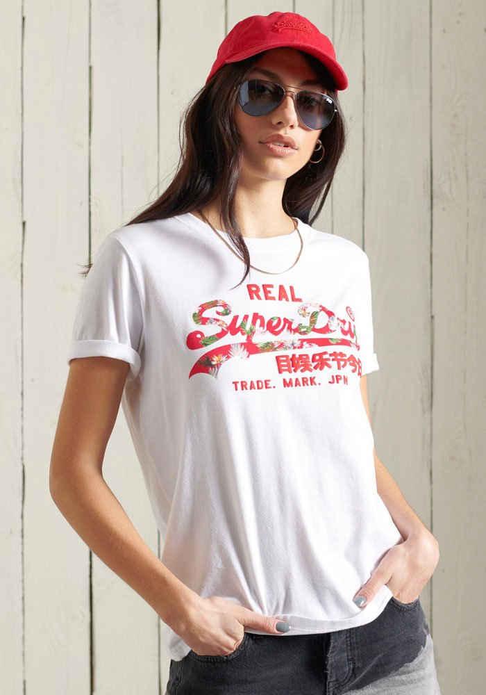 Superdry T-Shirt »Vintage Logo Infill T-Shirt« mit sommerlichen Logo Print