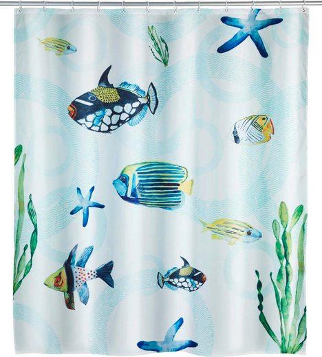 WENKO Duschvorhang »Aquaria« Breite 180 cm, Höhe 200 cm, Polyester, waschbar