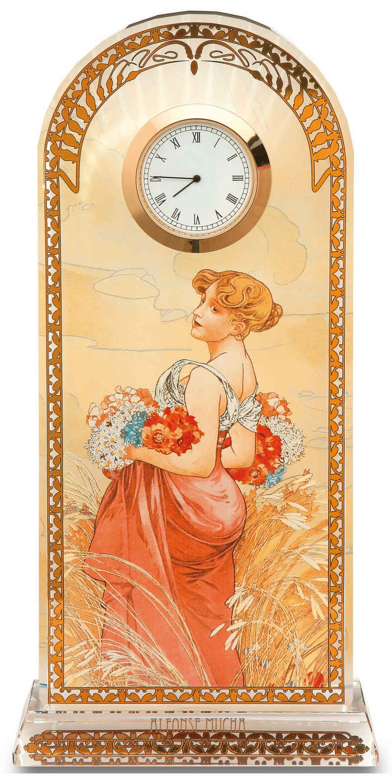 "Goebel Tischuhr »Artis Orbis - Alphonse Mucha - ""Sommer"", 66523251«"