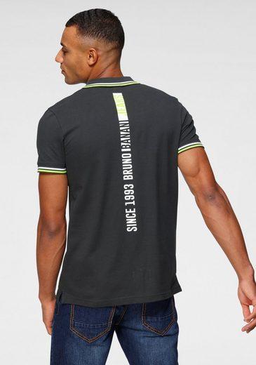 Bruno Banani Poloshirt mit modischen Rückenprint