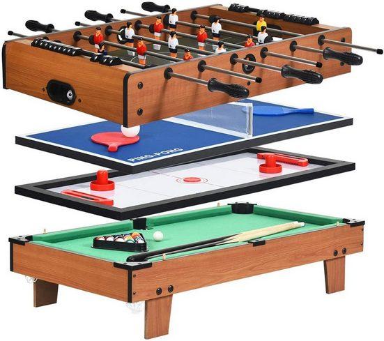 COSTWAY Billardtisch »Tischtennistisch Air Hockeytisch Tischkicker Spieltisch«