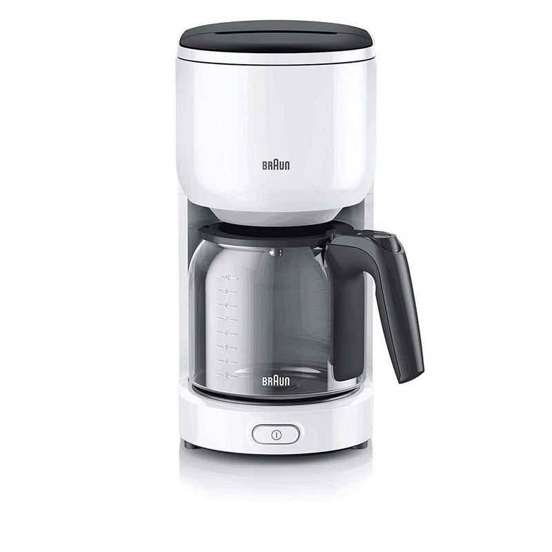 Braun Filterkaffeemaschine Braun KF 3100 Filterkaffeemaschine weiß
