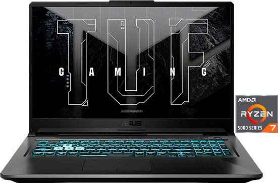 Asus TUF Gaming A17 FA706QM Gaming-Notebook (43,9 cm/17,3 Zoll, AMD Ryzen 7 5800H, GeForce RTX 3060, 512 GB SSD, Kostenloses Upgrade auf Windows 11, sobald verfügbar)