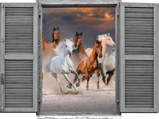 queence Wandtattoo »Pferde« (1 Stück)