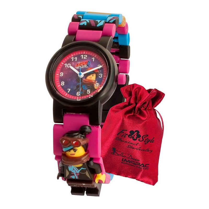 LEGO® Quarzuhr »ULE8021452 LEGO Movie 2 Wyldstyle Kinder Uhr«, (Analoguhr), Kinder Armbanduhr klein (ca. 28mm), Kunststoffarmband lila, schwarz, gelb, Fashion