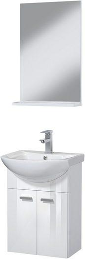 Badmöbel-Set »SOMA«, Premium Waschtisch und Spiegel, Breite 45 cm, 3-tlg