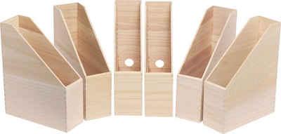 VBS Organizer »Holz-Stehsammler Heft«, 6 Stück unbehandelt