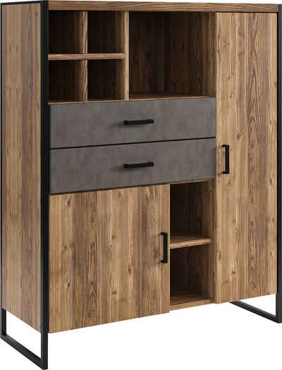 set one by Musterring Highboard »Modesto«, mit 2 Schubladen und 2 Türen, Breite 104 cm, Höhe 133 cm
