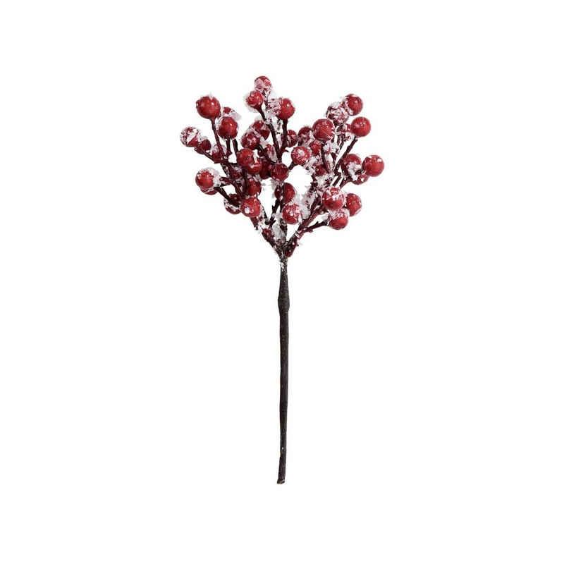 Kunstblume »WINTERGREEN 6x Beerenzweig gefrostet Länge 19cm«, BUTLERS, Höhe 0 cm