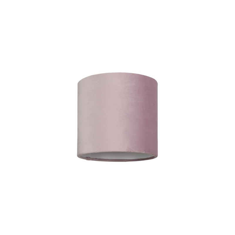 Licht-Erlebnisse Lampenschirm »GLIONA«, Leuchtenschirm Rosa Metall Samt Zylinder Wohnzimmer