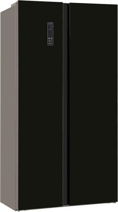 exquisit Side-by-Side SBS150-GF-040F schwarz, 177 cm hoch, 90,5 cm breit