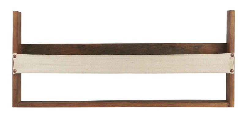 Ib Laursen Wandregal »Wandregal Regal mit Gurt Holz Vintage Rustikal Alt Unika Ib Laursen 2122-00«