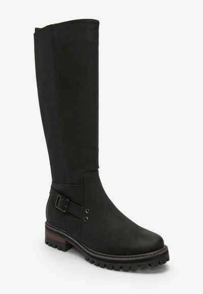 Next »Kniehohe Stiefel mit Schnalle und dicker Sohle« Stiefel (1-tlg)
