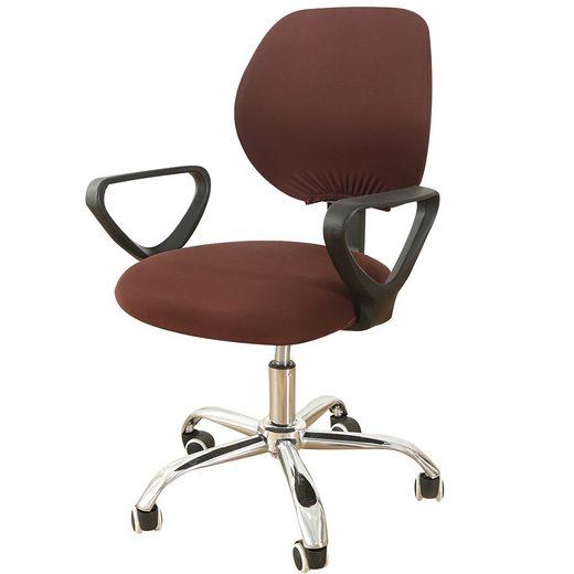 Bürostuhlhusse, TOPMELON, (2-tlg/ Paar) Elastisches Material, Bürostuhlbezug, Geteilter Stuhlbezug