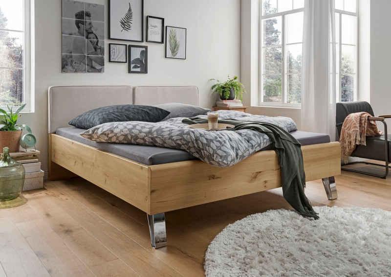WIEMANN Holzbett »Bari«, mit Polsterkopfteil und 4-facher Liegehöhenverstellung