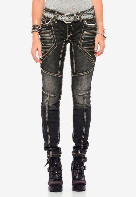 Hosen - Cipo Baxx Slim fit Jeans mit extravagantem Nahtdesign in Straight Fit ›  - Onlineshop OTTO