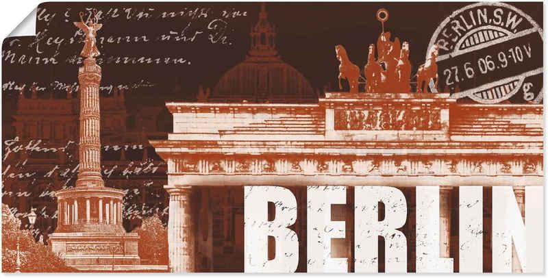 Artland Wandbild »Berlin Collage«, Berlin (1 Stück), in vielen Größen & Produktarten - Alubild / Outdoorbild für den Außenbereich, Leinwandbild, Poster, Wandaufkleber / Wandtattoo auch für Badezimmer geeignet