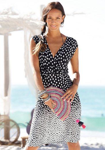 LASCANA Jerseykleid im Tupfendesign