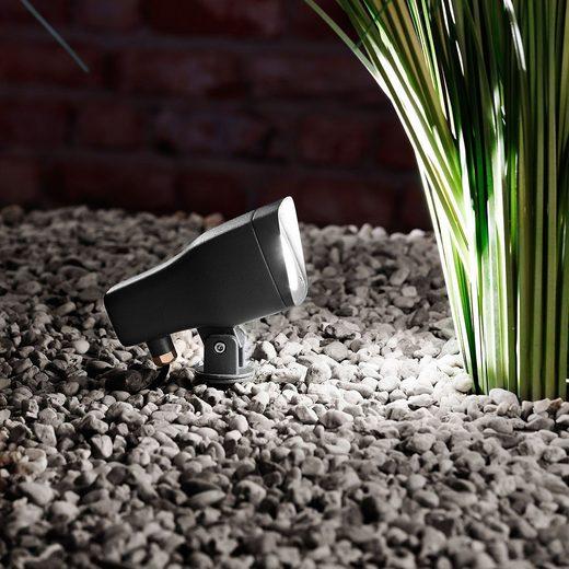 Licht-Trend Gartenstrahler »Punta LED Außen 310 Lumen Anthrazit«