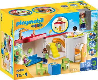 Playmobil® Konstruktions-Spielset »Mein Mitnehm-Kindergarten (70399), Playmobil 1-2-3«, (15 St), Made in Europe
