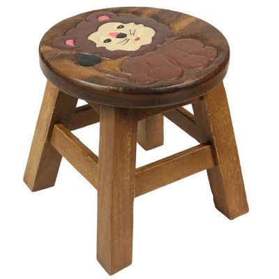 Oriental Galerie Sitzhocker »Kinderhocker Stuhl für Kinder 25 cm Löwe Nr. 2« (1 St), Handarbeit