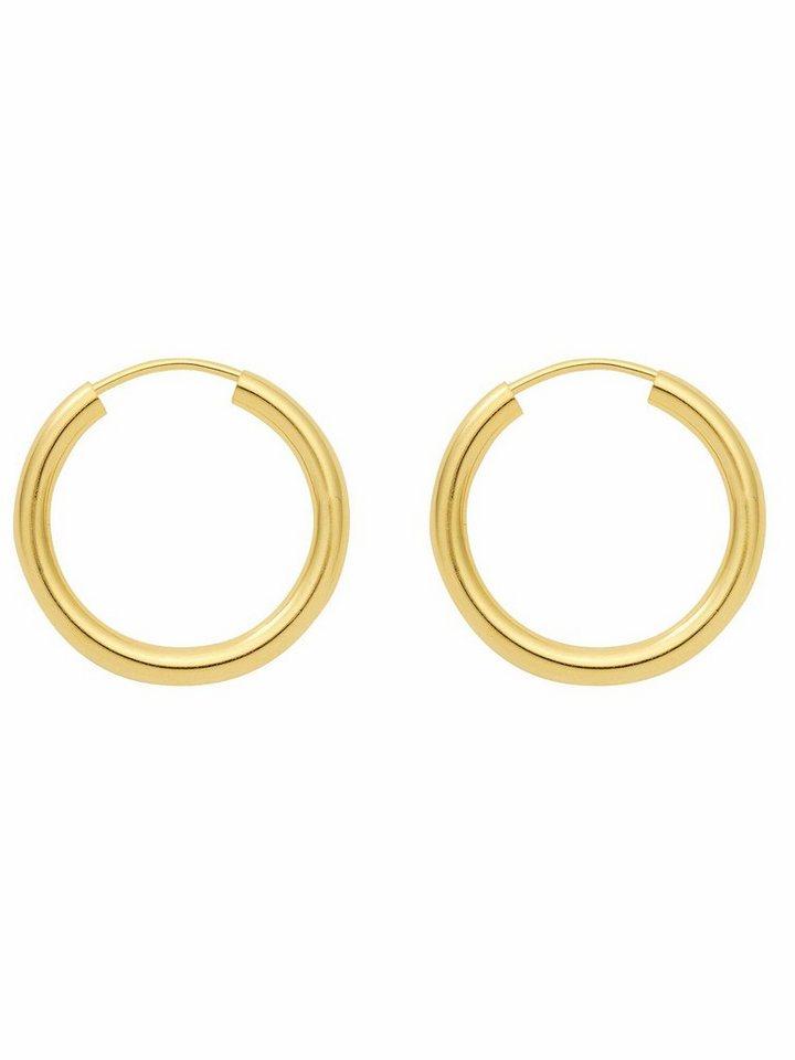 Ohrringe Creolen 925 Sterling Silber vergoldet Ø 30 mm x 1,2 mm NEU