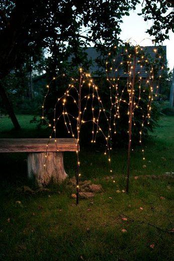 STAR TRADING LED Baum »LED Leuchtbaum/Trauerweide - 144 warmweißen LED - H: 150cm - Trafo - Outdoor - braun«