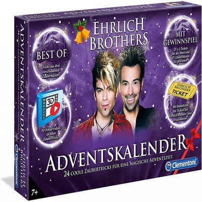 Clementoni® Zauberkasten »Adventskalender Ehrlich Brothers 24 Coole Zaubertricks«, Made in Europe