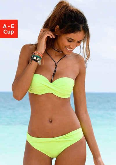 s.Oliver Bandeau-Bikini-Top »Spain«, unifarben mit Wickeloptik