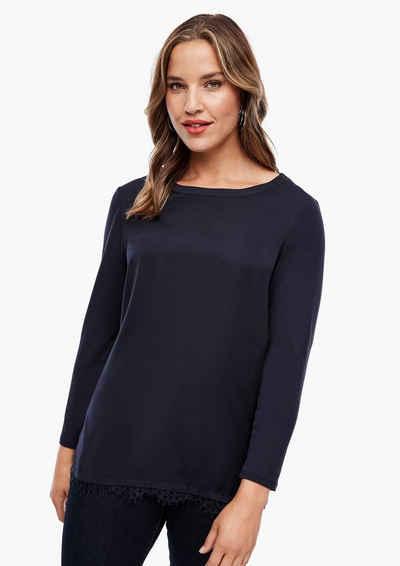 TRIANGLE Langarmshirt »Fabricmix-Shirt mit Spitze« (1-tlg) Layering, Spitze