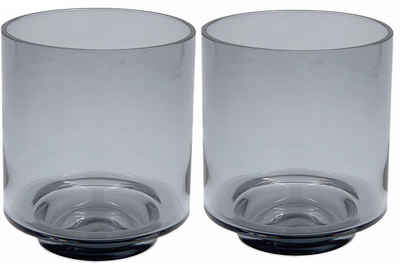 Leonique Windlicht »Gracelynn« (Set, 2 Stück), aus Glas, in zylindrischer Form, mit Fuß