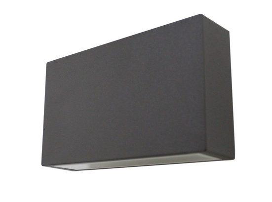 Kiom Wandleuchte »Außen-Wandleuchte UpDown LED square d-grau IP44 6W«, 2-flammig