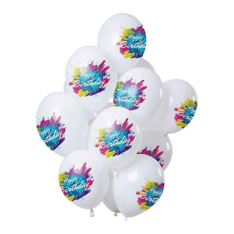 Folat Luftballon »Luftballons Color Splash 'Happy Birthday' 30 cm,«