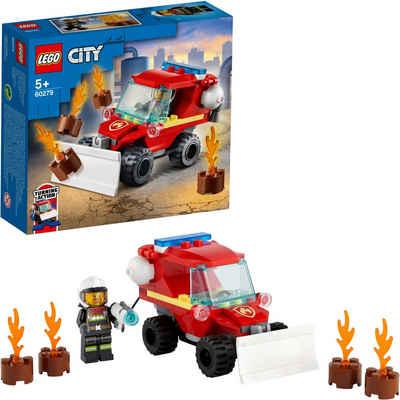 LEGO® Konstruktionsspielsteine »Mini-Löschfahrzeug (60279), LEGO® City Fire«, (87 St), Made in Europe