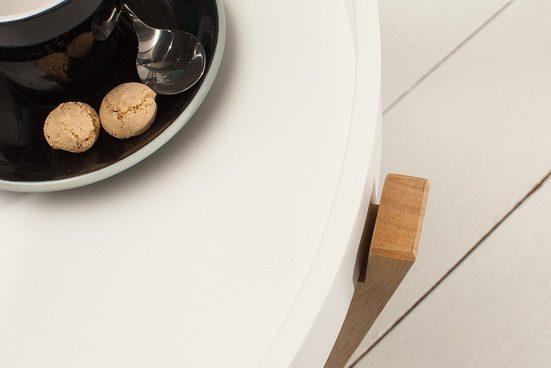 riess-ambiente Beistelltisch »SCANDINAVIA 57cm weiß / natur« (2er-Set)  mit abnehmbaren Tablett