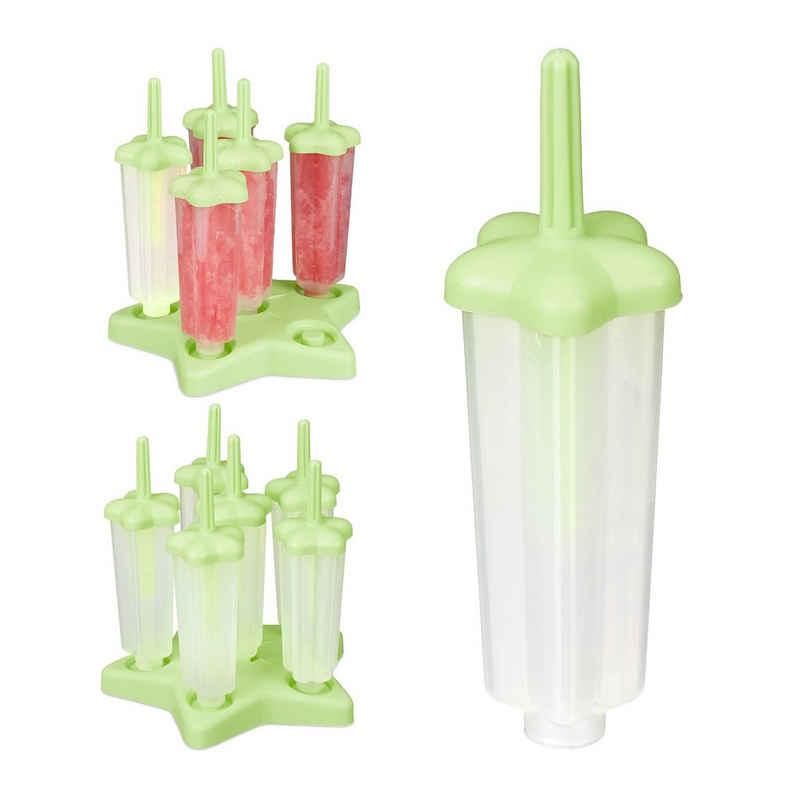 relaxdays Eisform »12 Eisformen mit Stiel«