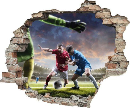 queence Wandtattoo »Fußball Zweikampf« (1 Stück)