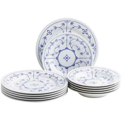 Kahla Tafelservice »Blau Saks 12tlg.« (12-tlg), Porzellan, von Hand dekoriert