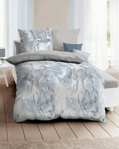 Wendebettwäsche »Carrara«, Kaeppel, mit Aquarell-Print